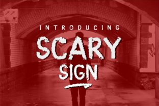 Print on Demand: Scary Sign Display Font By JavaPep