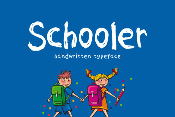 Print on Demand: Schooler Script & Handwritten Font By Shattered Notion