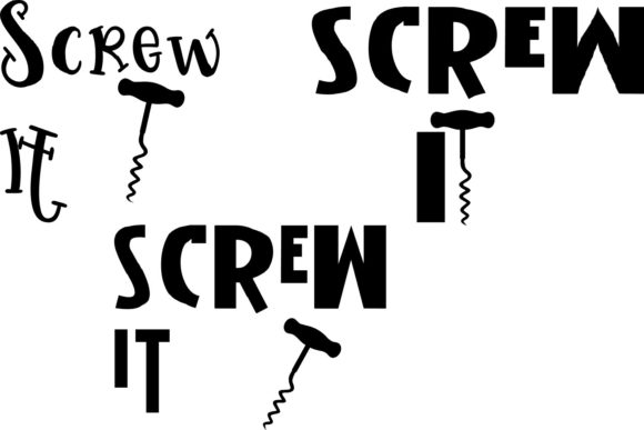 Screw It Graphic Crafts By Karen Lemaire