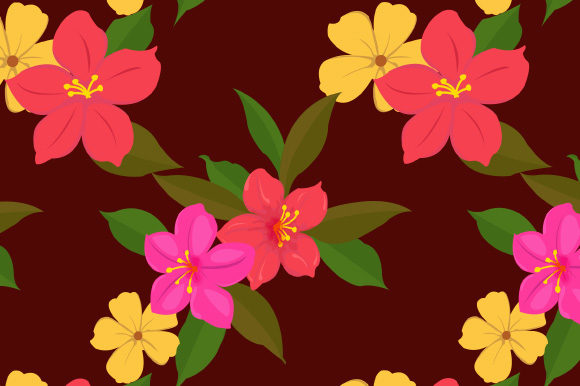 Print on Demand: Seamless Floral Pattern in Vector Gráfico Moldes Por iop_micro