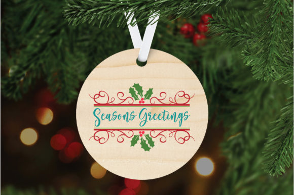 Download Free Seasons Greetings Christmas Cut File Graphic By for Cricut Explore, Silhouette and other cutting machines.
