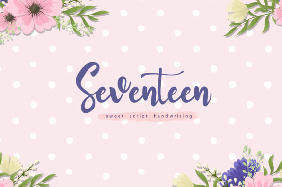Print on Demand: Seventeen Script & Handwritten Font By silverdav