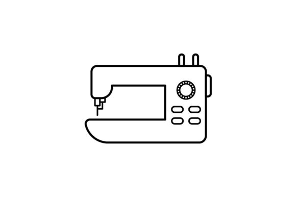 Print on Demand: Sewing Machine Graphic Icons By khld939