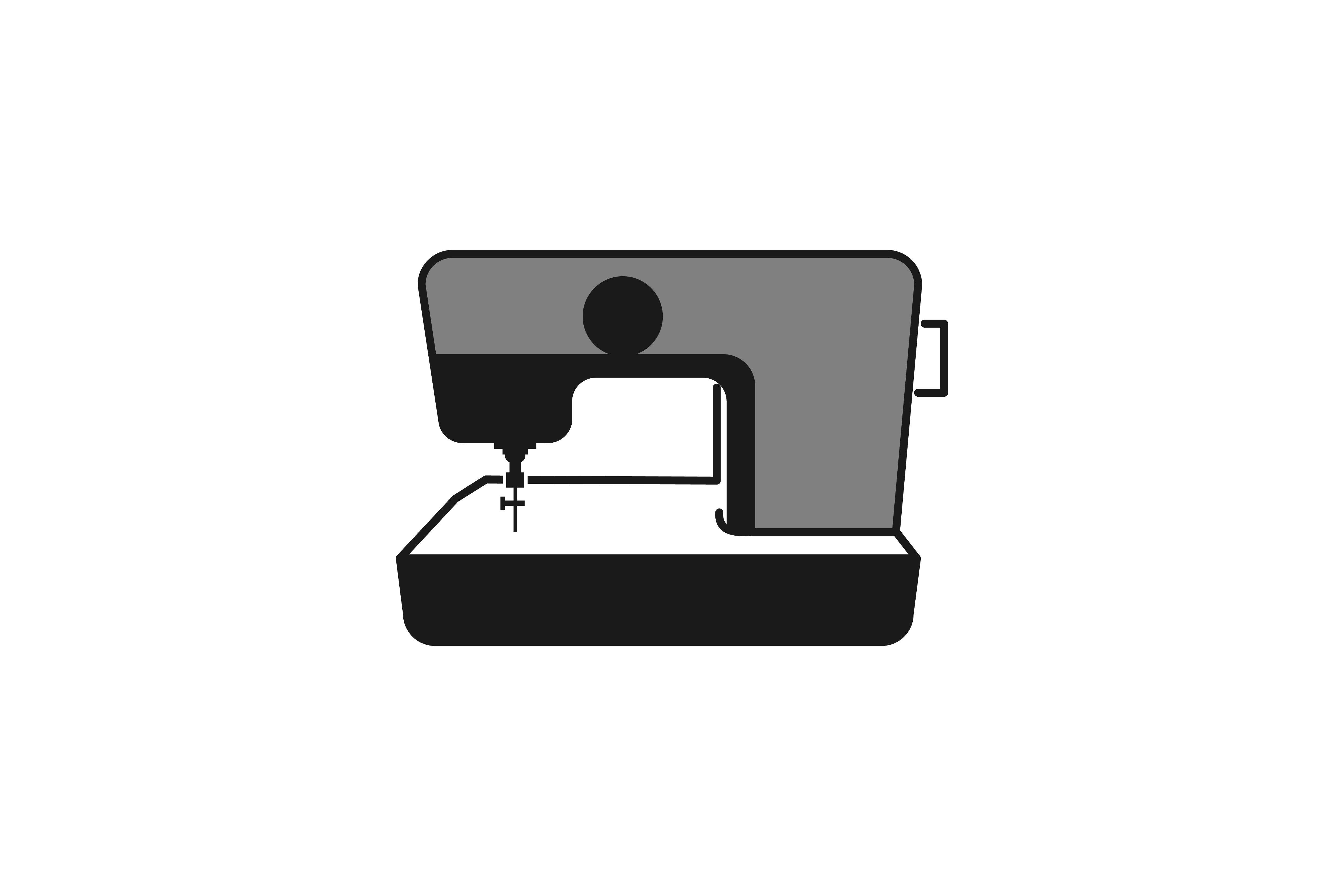 Download Free Sewing Machine Logo Graphic By Yahyaanasatokillah Creative Fabrica for Cricut Explore, Silhouette and other cutting machines.