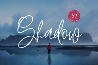 Print on Demand: Shadow Script Color Fonts Font By Dmitrii Chirkov 1