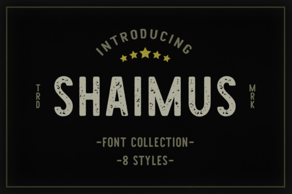Print on Demand: Shaimus Family Display Font By Pasha Larin