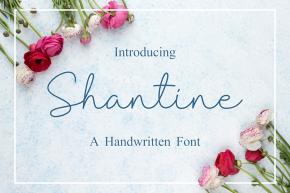 Print on Demand: Shantine Script & Handwritten Font By Sibelumpagi Studio