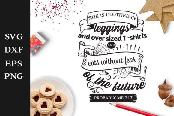 Download Free She Is Clothed In Leggings Svg Graphic By Nerd Mama Cut Files Creative Fabrica for Cricut Explore, Silhouette and other cutting machines.