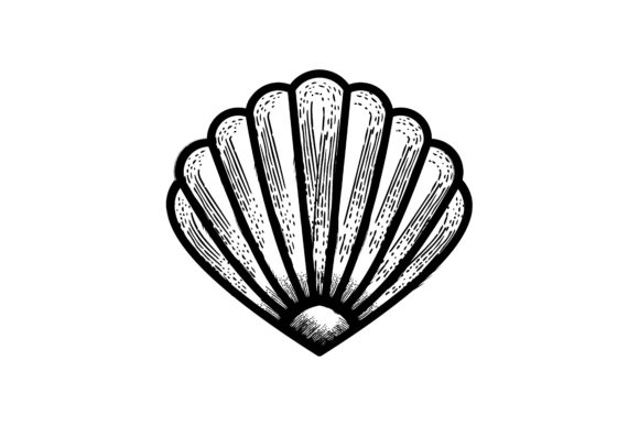 Download Free Shell Oyster Scallop Logo Graphic By Yahyaanasatokillah for Cricut Explore, Silhouette and other cutting machines.