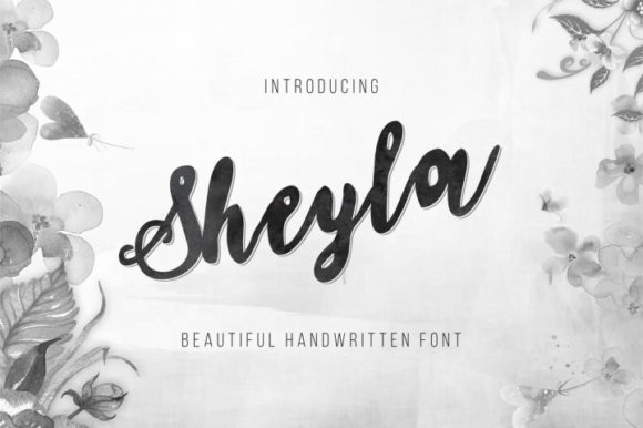 Print on Demand: Sheyla Script & Handwritten Font By bywahtung