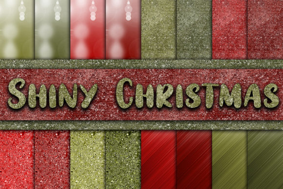 Print on Demand: Shiny Christmas Digital Papers Graphic Textures By oldmarketdesigns