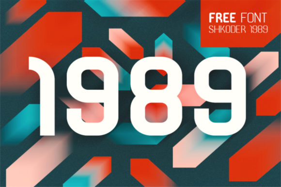 Print on Demand: Shkoder 1989 Display Font By Creative Fabrica Freebies