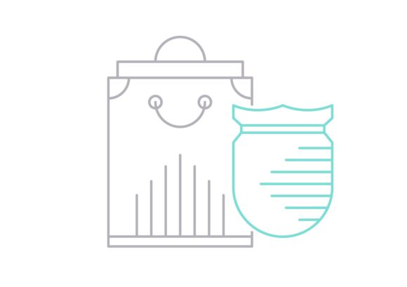 Print on Demand: Shopping Protection Graphic Icons By Iconika