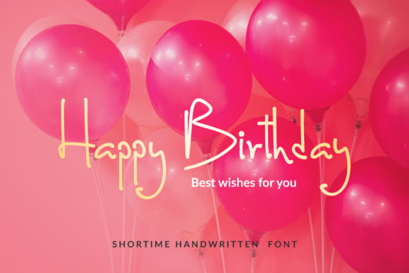 Print on Demand: Shortime Script & Handwritten Font By Subectype - Image 5