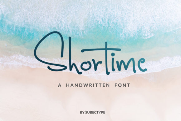 Print on Demand: Shortime Script & Handwritten Font By Subectype
