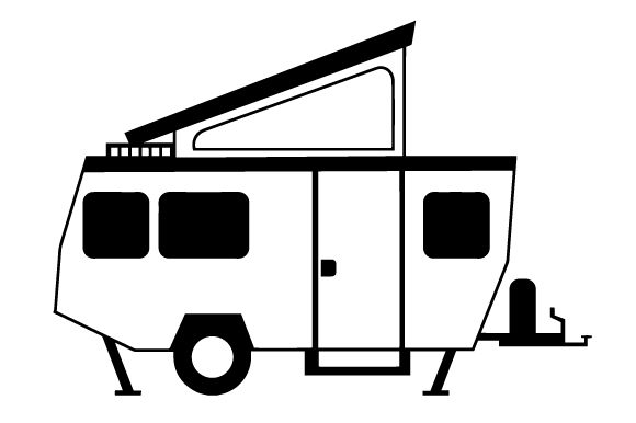 Download Free Side View Of A Pop Up Camper Svg Cut File By Creative Fabrica SVG Cut Files