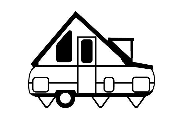 Download Free Side View Of A Pop Up Camper Svg Cut File By Creative Fabrica for Cricut Explore, Silhouette and other cutting machines.
