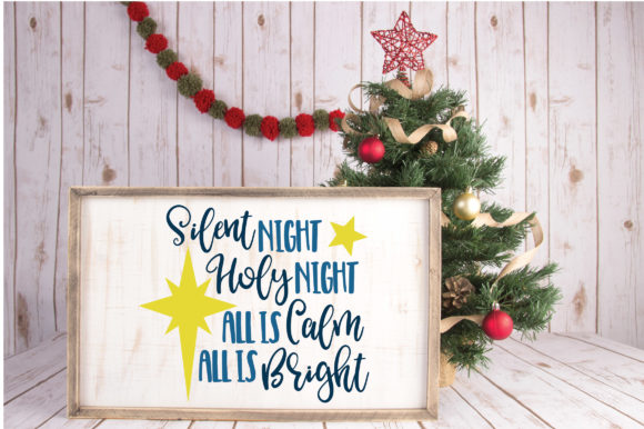 Download Free Silent Night Cut File Christmas Graphic By Oldmarketdesigns SVG Cut Files