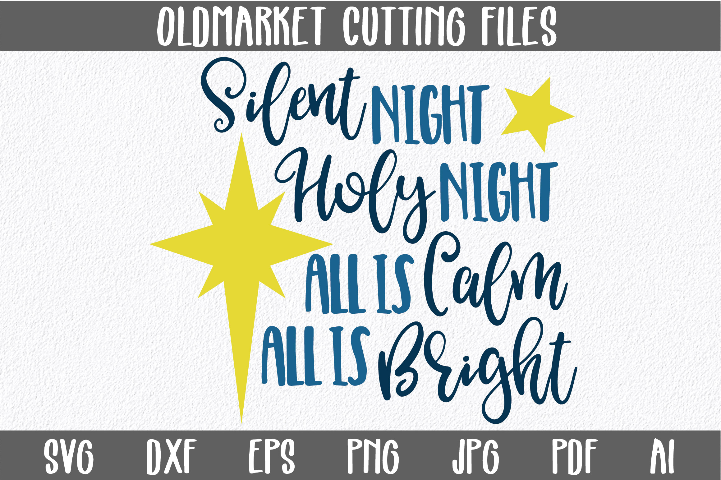 Download Free Silent Night Cut File Christmas Graphic By Oldmarketdesigns for Cricut Explore, Silhouette and other cutting machines.