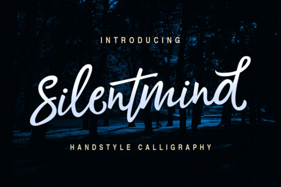 Print on Demand: Silentmind Script & Handwritten Font By riversidetypefoundry