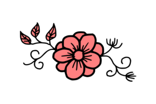 Download Free Simple Flower Vector Graphic By Harisprawoto Creative Fabrica for Cricut Explore, Silhouette and other cutting machines.