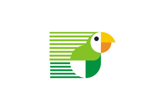 Simple Green and White Bird Logo Graphic Logos By Acongraphic