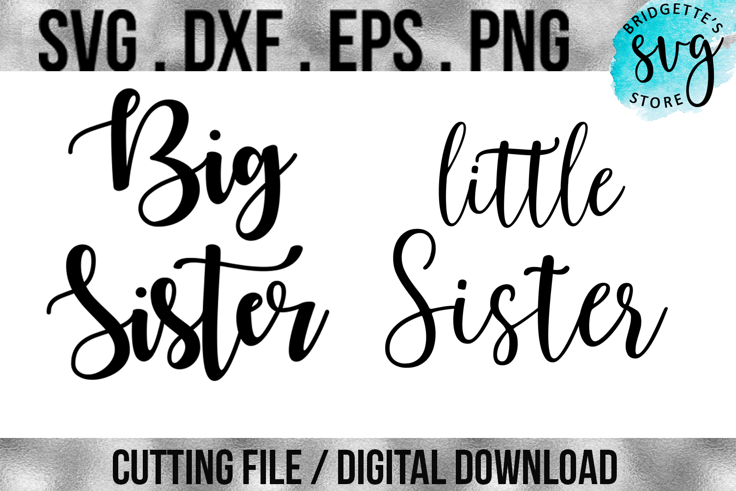Download Free Sister Bundle Graphic By Luxmauve Creative Fabrica for Cricut Explore, Silhouette and other cutting machines.