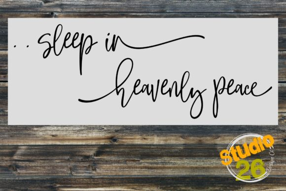 Download Free Sleep In Heavenly Peace Svg Graphic By Studio 26 Design Co for Cricut Explore, Silhouette and other cutting machines.