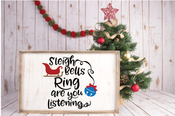 Download Free Sleigh Bells Ring Christmas Svg Cut File Graphic By for Cricut Explore, Silhouette and other cutting machines.