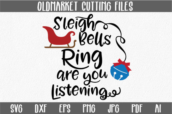 Download Free Sleigh Bells Ring Christmas Svg Cut File Graphic By SVG Cut Files
