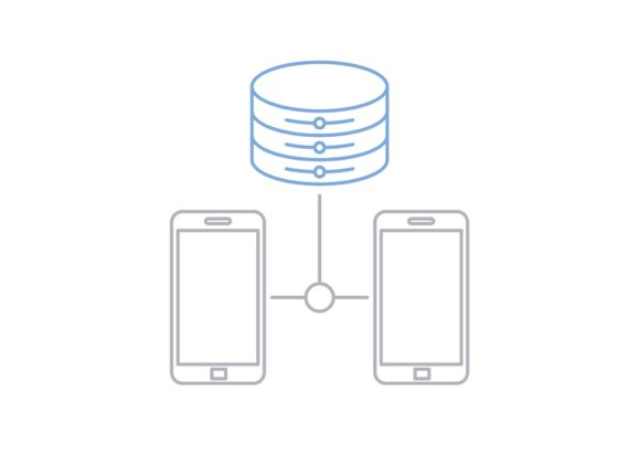 Print on Demand: Smartphone Database Graphic Icons By Iconika