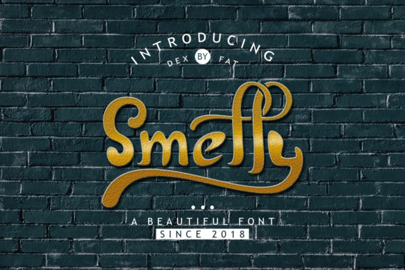 Print on Demand: Smelly Display Font By dexfat01