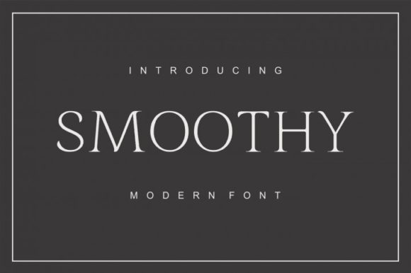 Print on Demand: Smoothy Display Font By bywahtung