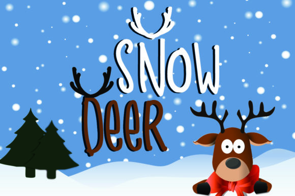 Print on Demand: Snow Deer Display Font By dmletter31 - Image 1