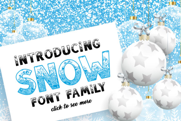 Print on Demand: Snow Family Color Fonts Font By ilonitta.r - Image 2