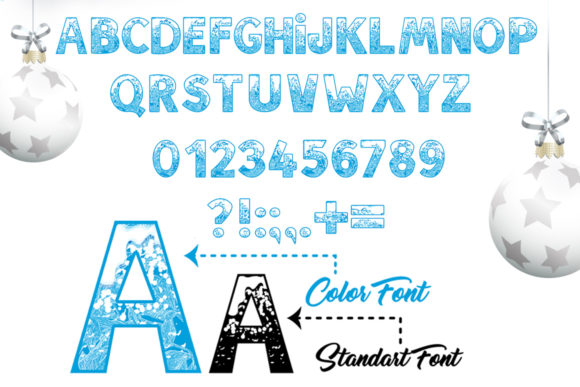 Print on Demand: Snow Family Color Fonts Font By ilonitta.r - Image 3