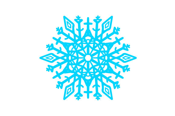 Crystal Snowflake Intricate cuts Craft Cut File By Creative Fabrica Crafts