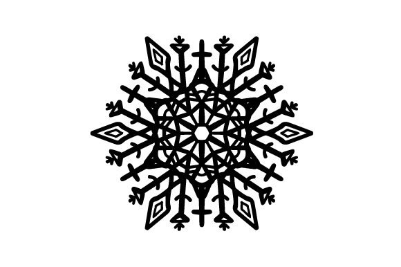 Download Free Crystal Snowflake Svg Cut File By Creative Fabrica Crafts for Cricut Explore, Silhouette and other cutting machines.