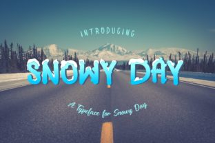 Snowy Day Font By MJB Letters