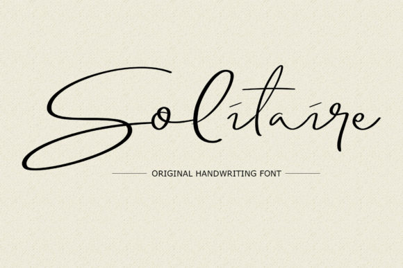 Print on Demand: Solitaire Script & Handwritten Font By LetterStock X Gumacreative