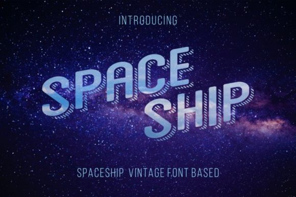 Print on Demand: Space Ship Display Schriftarten von bywahtung