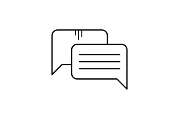 Print on Demand: Speech Bubble Graphic Icons By khld939