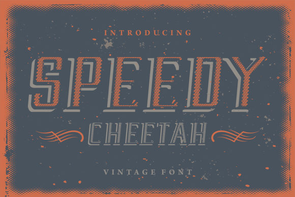 Print on Demand: Speedy Cheetah Display Font By bywahtung