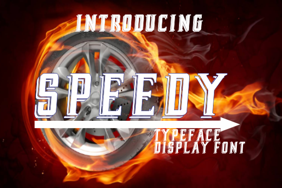 Print on Demand: Speedy Display Font By bywahtung