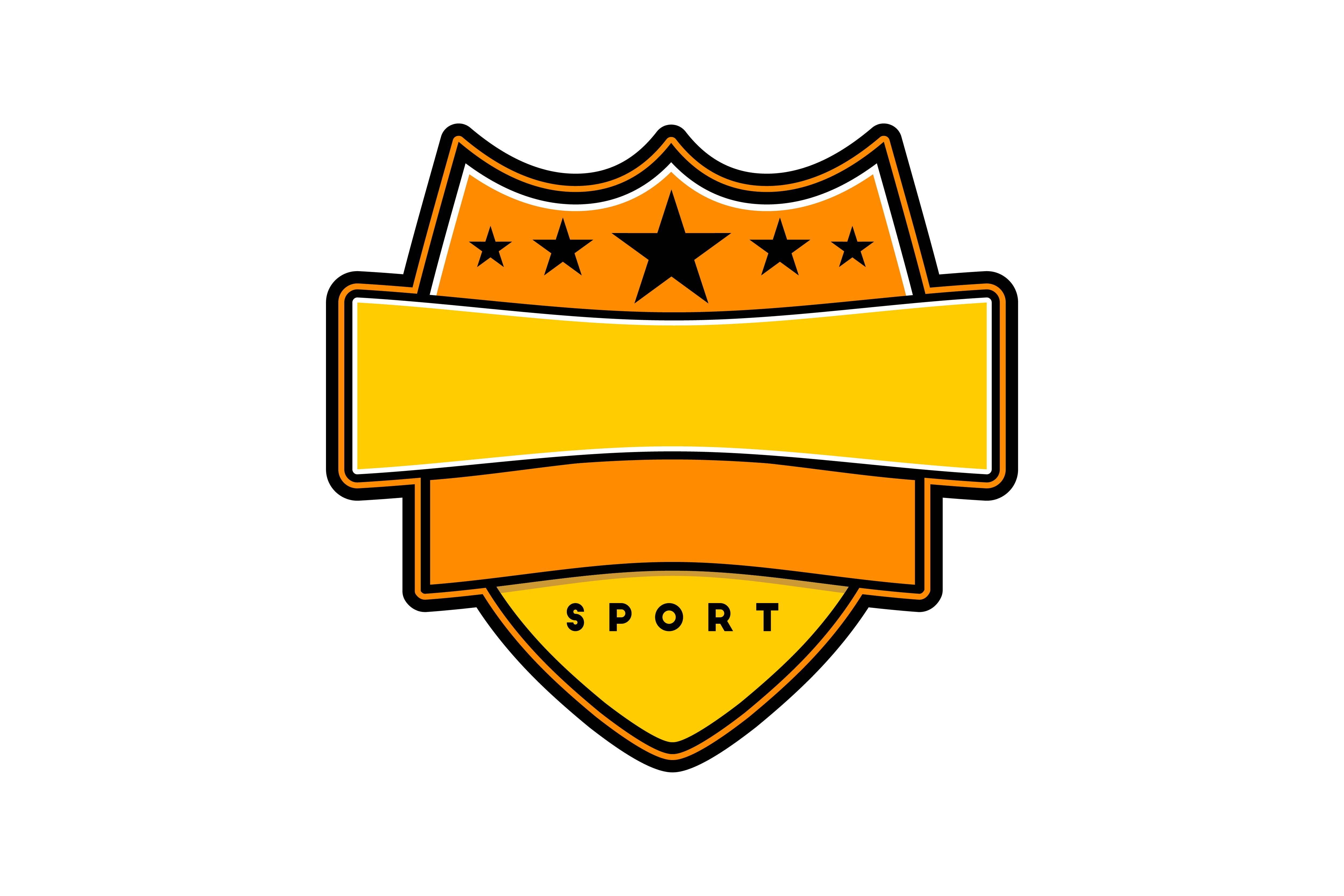 Download Free Sport Badge Template Logo Graphic By Yahyaanasatokillah for Cricut Explore, Silhouette and other cutting machines.