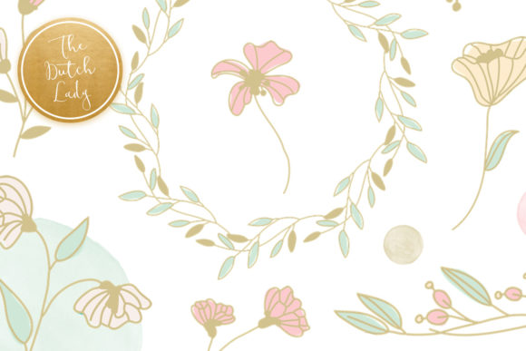 Print on Demand: Spring Flower Clipart Set in Pastels Graphic Illustrations By daphnepopuliers