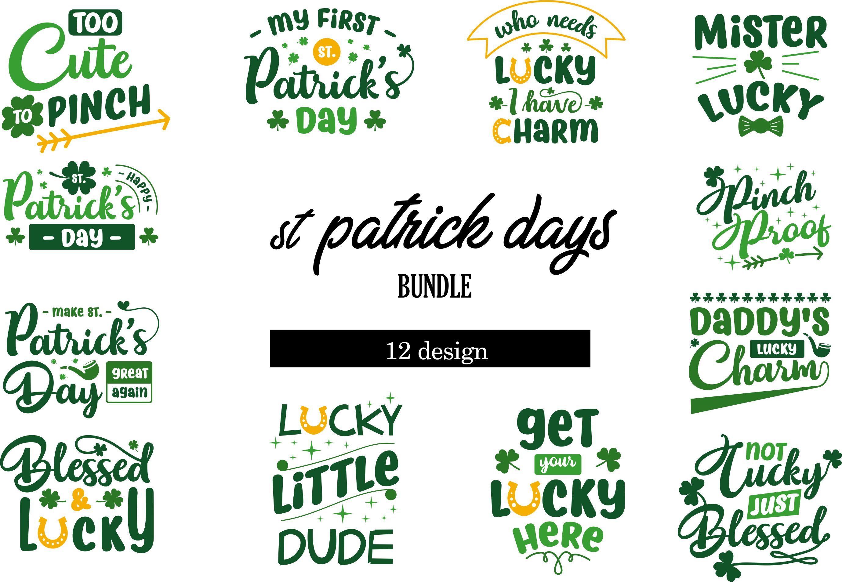 Download Free St Patrick S Day Quotes Bundle Graphic By Graphicrun123 for Cricut Explore, Silhouette and other cutting machines.