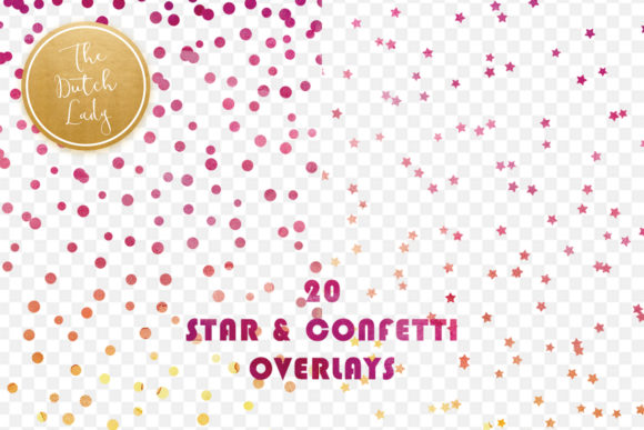 Print on Demand: Star Confetti Overlay Clipart Graphic Crafts By daphnepopuliers