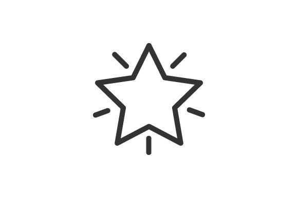 Download Free Star Icon Graphic By Rudezstudio Creative Fabrica for Cricut Explore, Silhouette and other cutting machines.