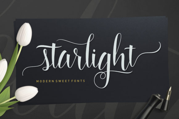 Starlight Script Script & Handwritten Font By Stripes Studio